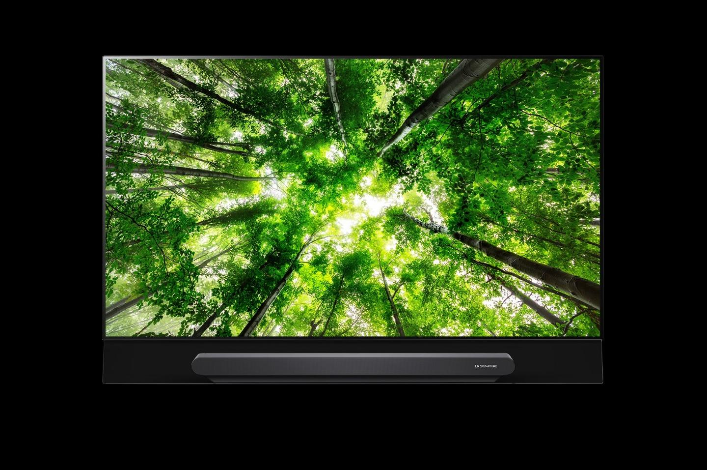 The W8 is the signature TV in LG's 2018 premium lineup