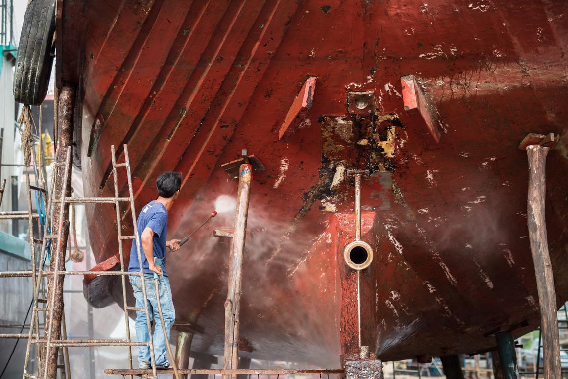Skin-inspired hull hydrogel may sense and repel barnacles