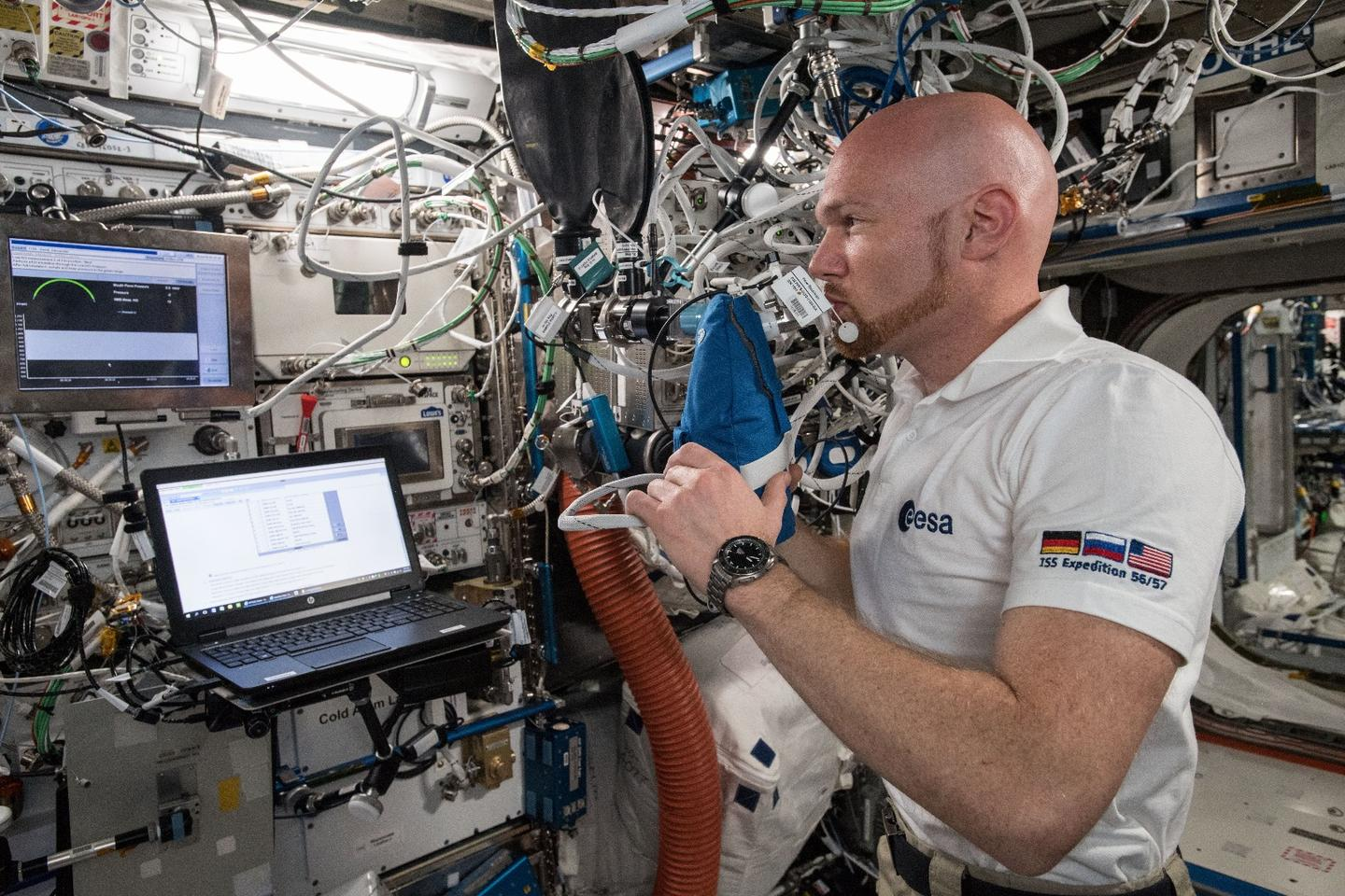 Developed by researchers at the Karolinska Institutet in Sweden, the Airway Monitoring experiment measures astronauts' breath to determine the health of their lungs