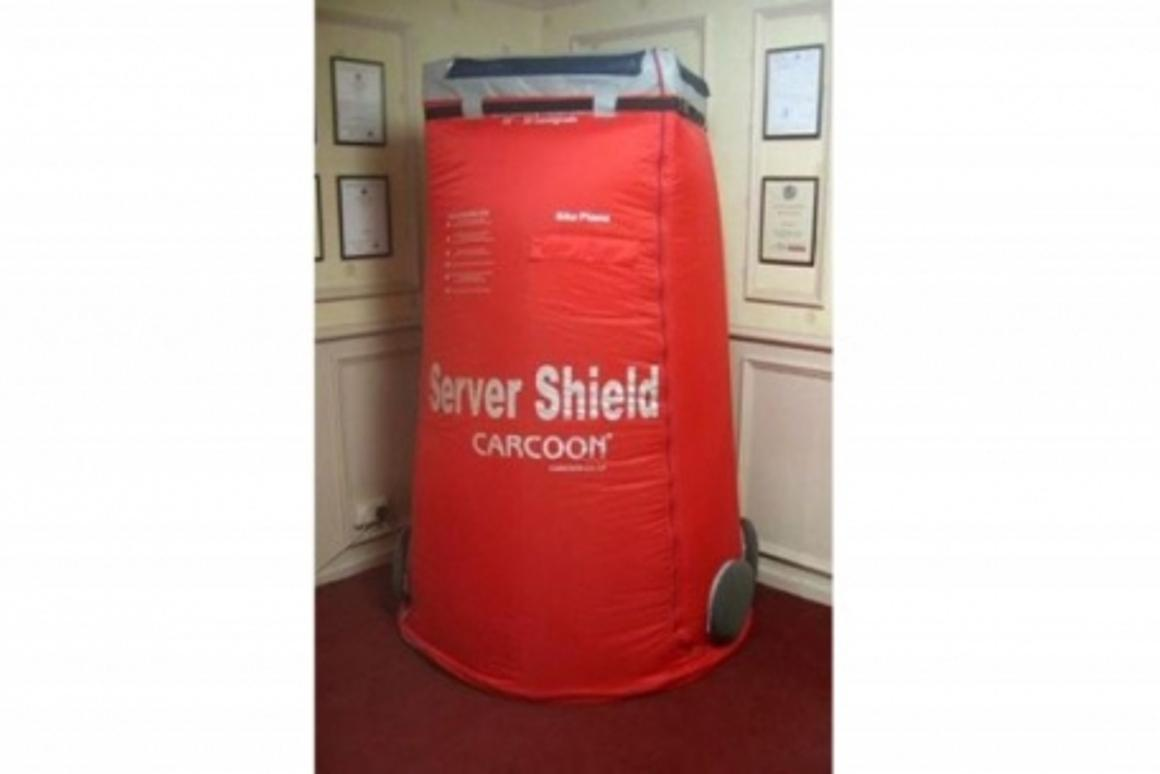 The Carcoon Server Shield protects sensitive equipment from dust and moisture