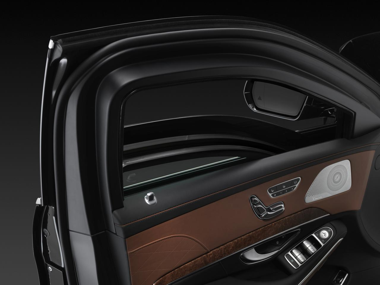 The Mercedes S-Class Guard is fitted with extra protection between the car's frame and bodywork