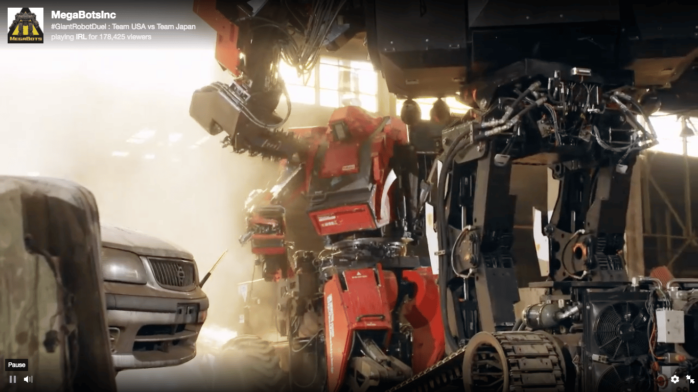 MegaBots' Eagle Prime vs. Suidobashi's Kuratas: This first giant robot duel was a lot more fun to watch than you might have expected