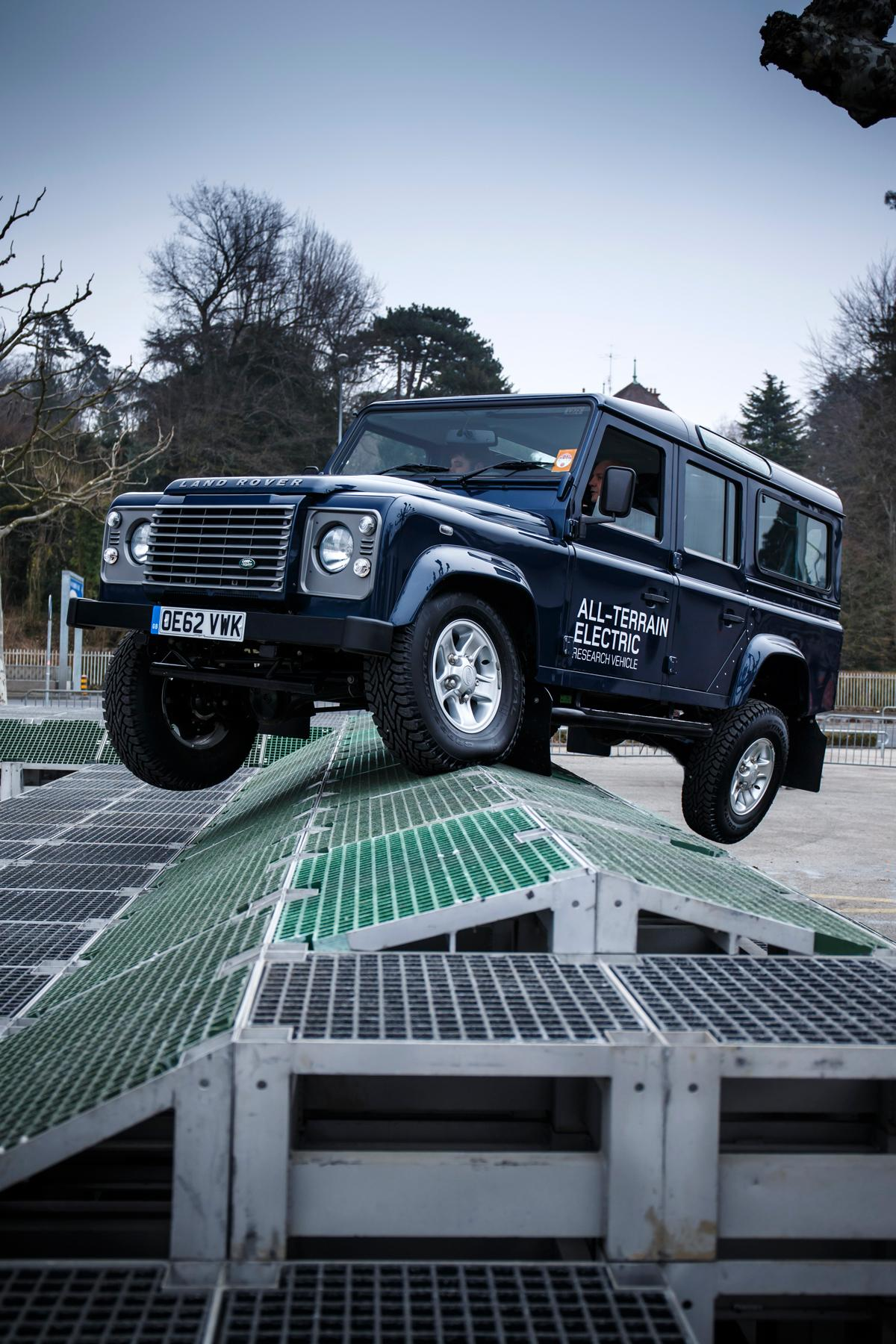 """An Electric Defender is the subject of an ongoing Land Rover research program known as the """"Eden Project"""""""