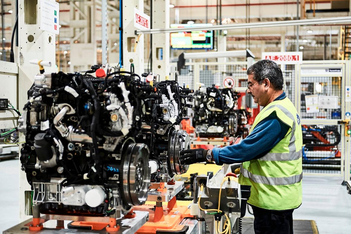 """A newly installed """"state-of-the-art"""" production linehas begun knocking out 350,000 of the new EcoBlue dieselengines per year"""