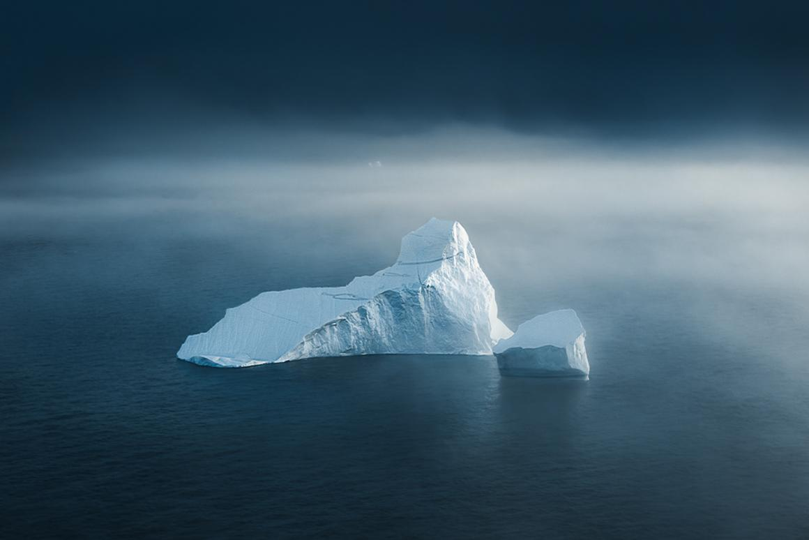 These incredible iceberg images investigate Tom Hegen's fascination with the shapes, texture and appearance of broken off ice masses from the Arctic Ice Sheet