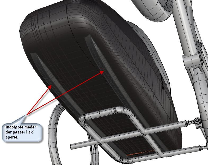 The wheel frame is designed to provide straightforward mounting