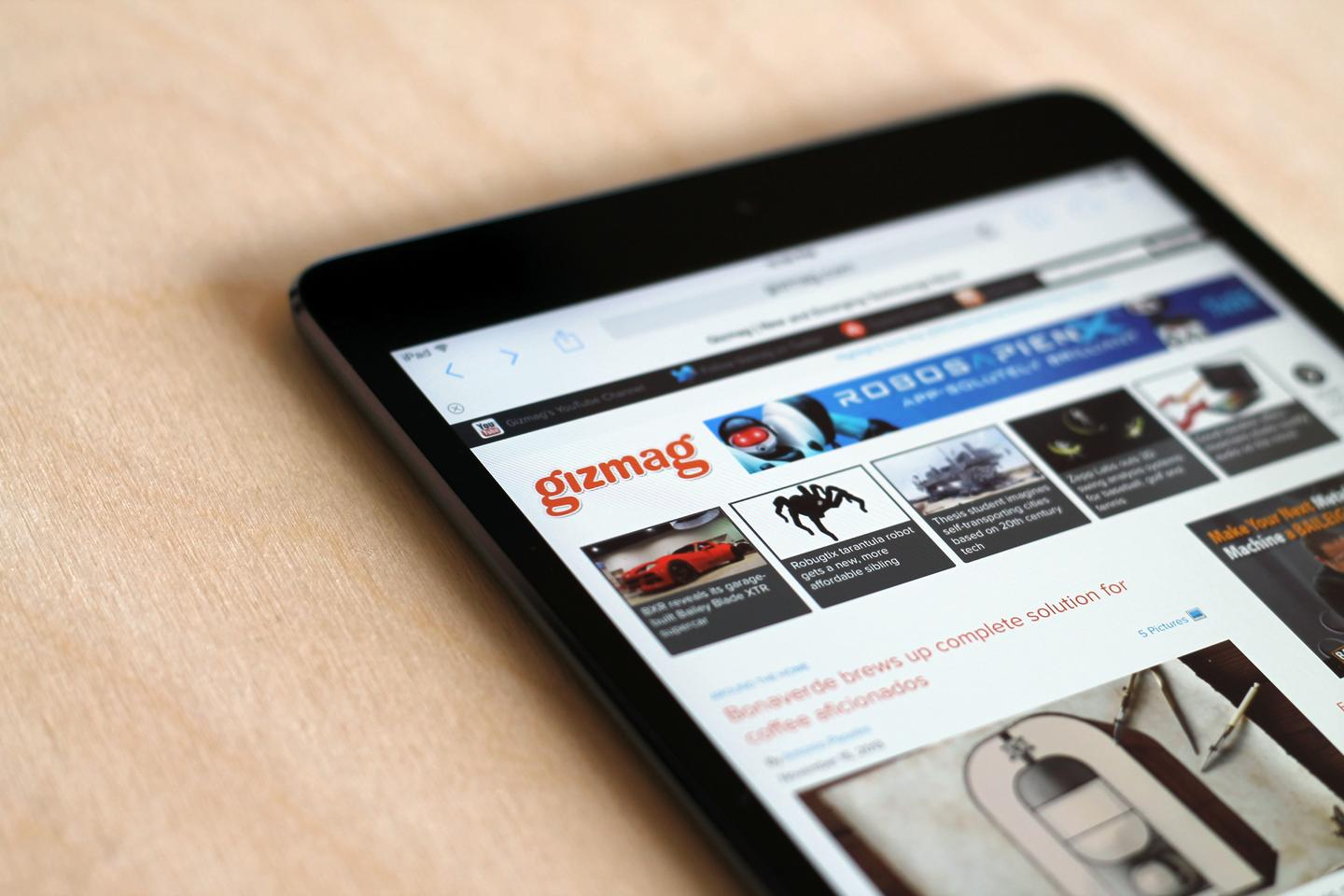 The new iPad mini's screen is a huge improvement, with 4x the pixels in the original model