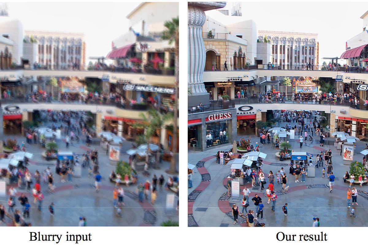Adobe's de-blur plug-in in action