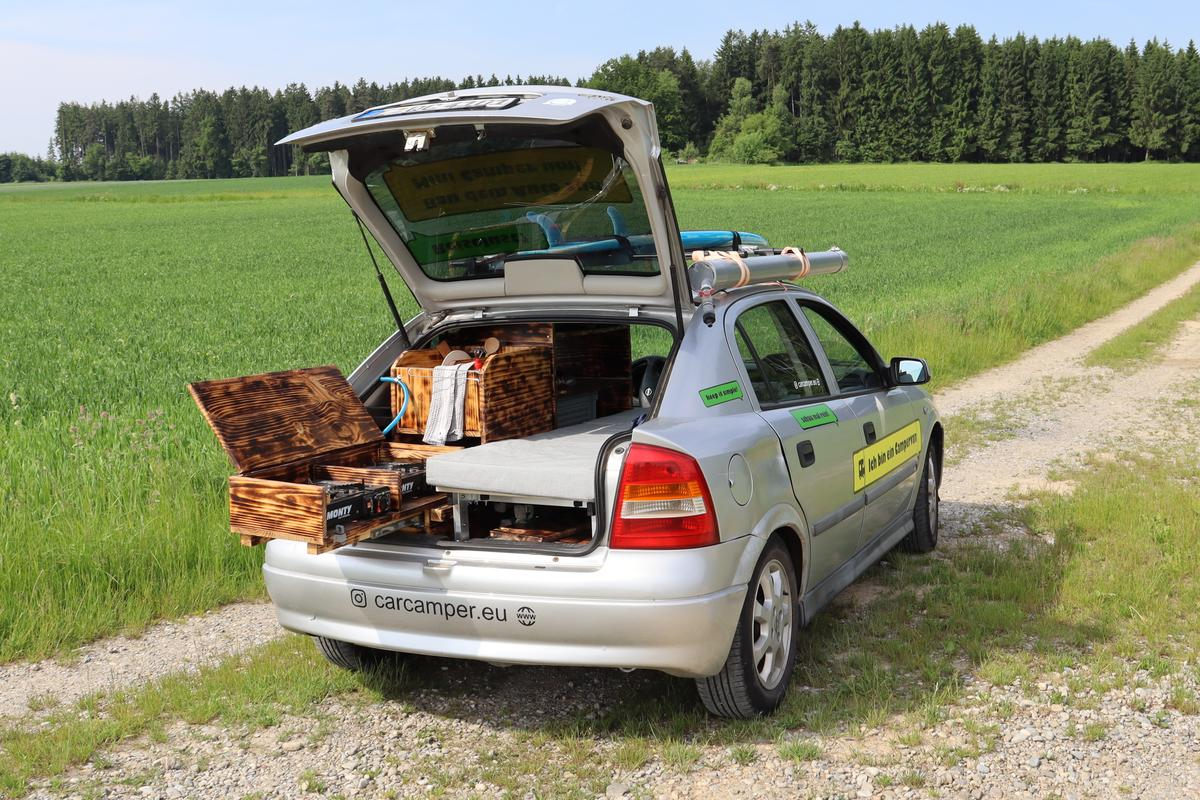 So long as you have a hatchback, CarCamper helps you create a camper