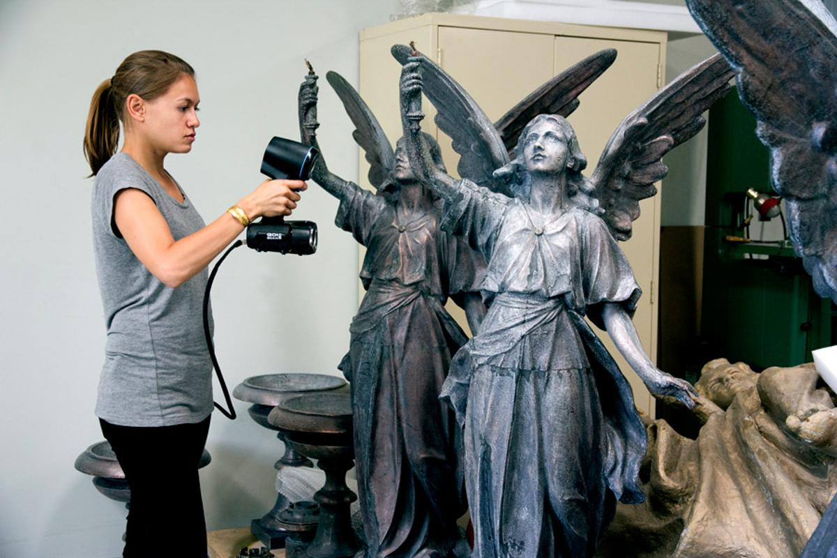 The Go!SCAN 3D scanner can generate accurate digital models of real world objects simply and quickly