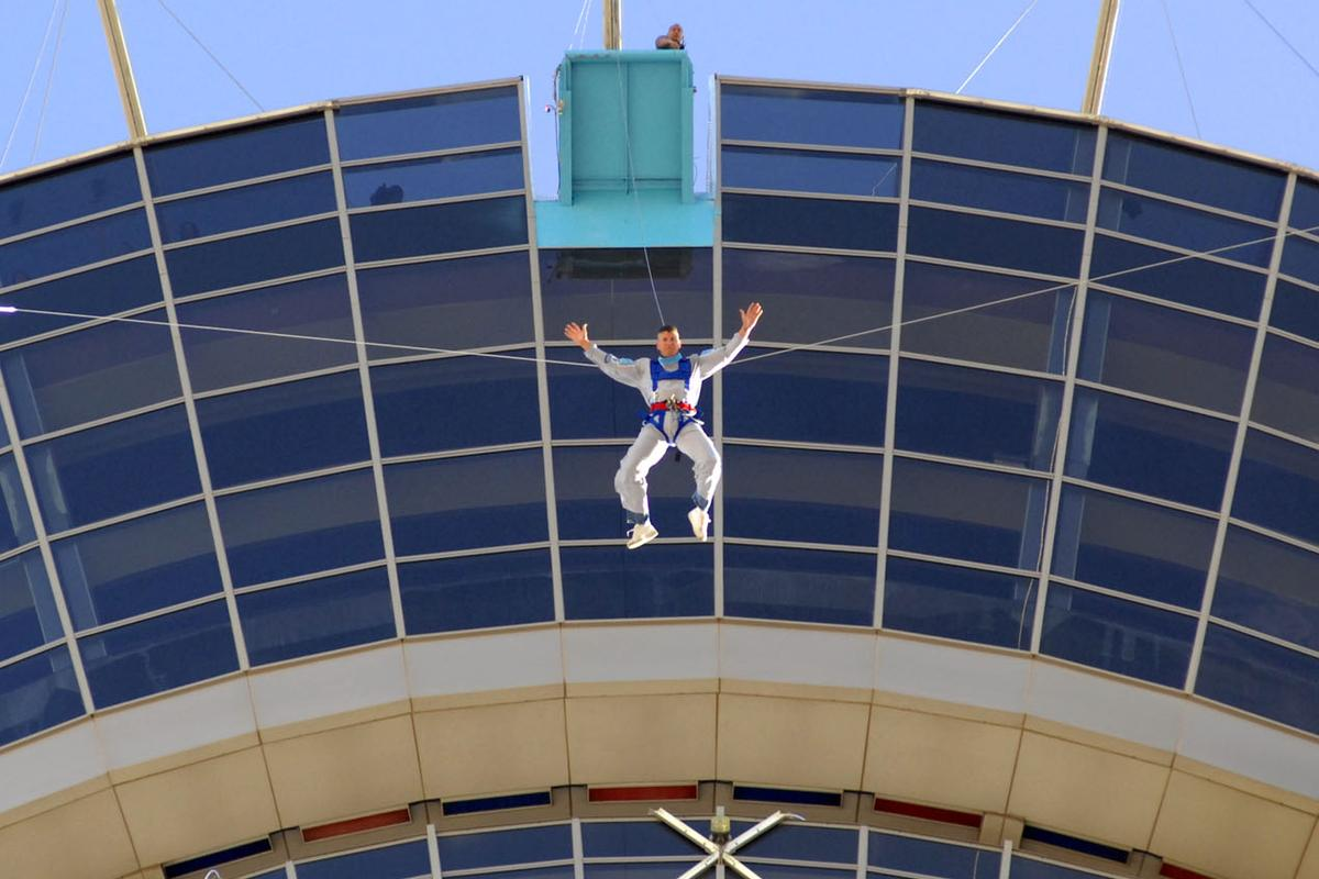 SkyJump - 855-foot controlled free-fall at 40mph