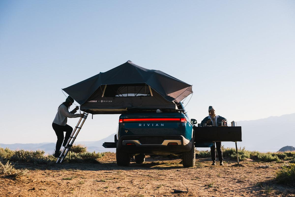 Rivian makes it easy to turn the R1T into an all-electric camper truck