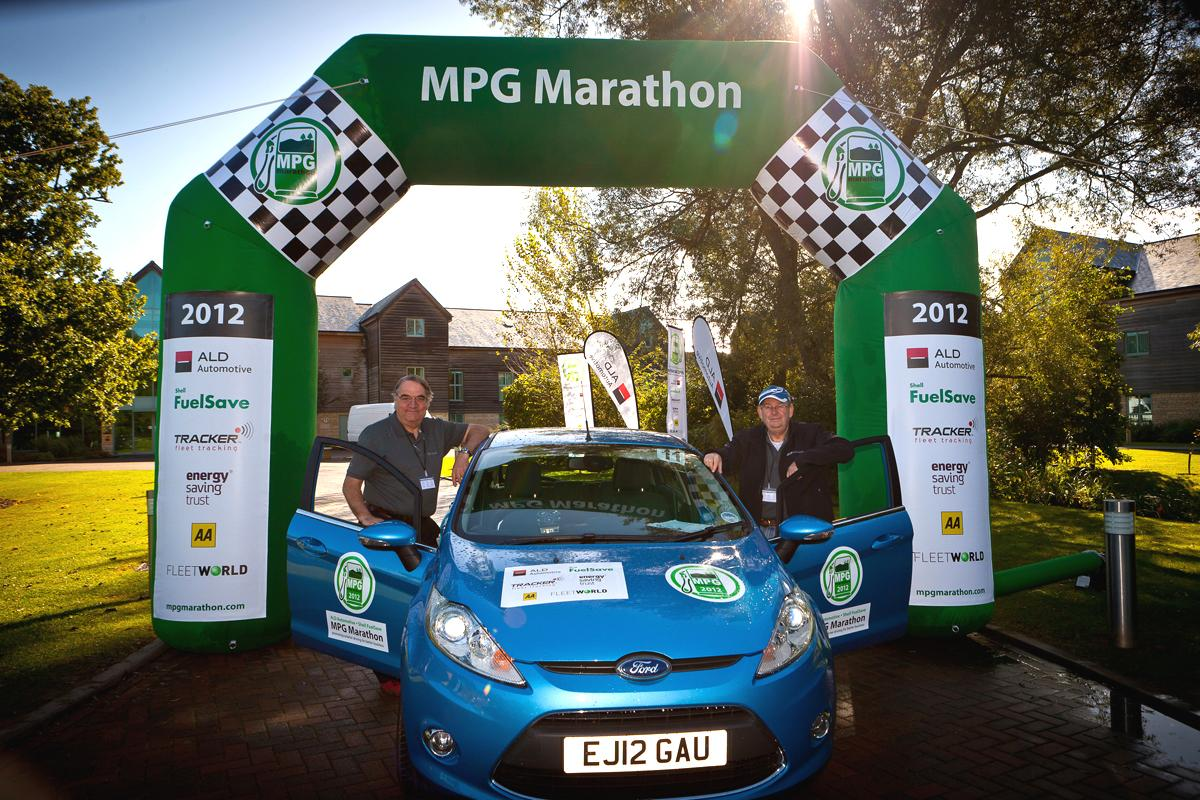 """The former works rally team of Dawson and Marriott who drove the Mustang in 2016were the outright winners of the 2012 MPG Marathon in a Ford Fiesta 1.6 TDCi (above)which returned 108.8 mpg, further emphasising the time-honored mantra that """"it's not what you've got but how you use it""""."""