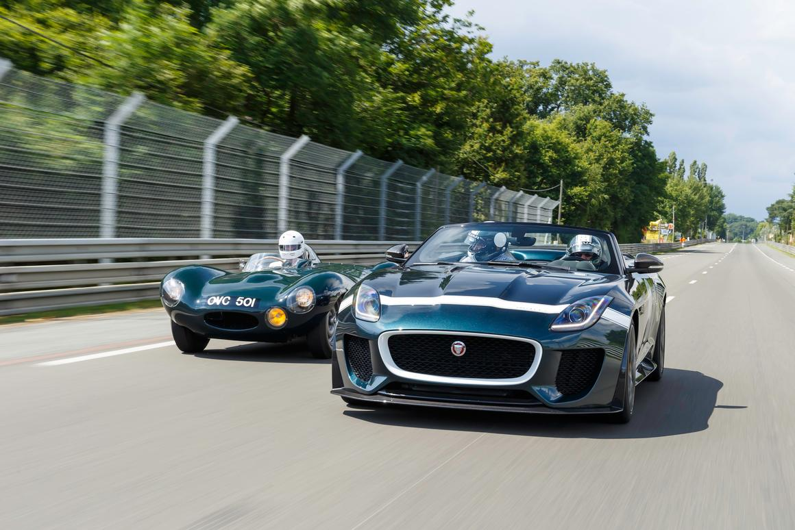 The Jaguar F-Type Project 7 made its dynamic debut at the Le Mans Classic in July, driving alongside the D-type that influenced its design