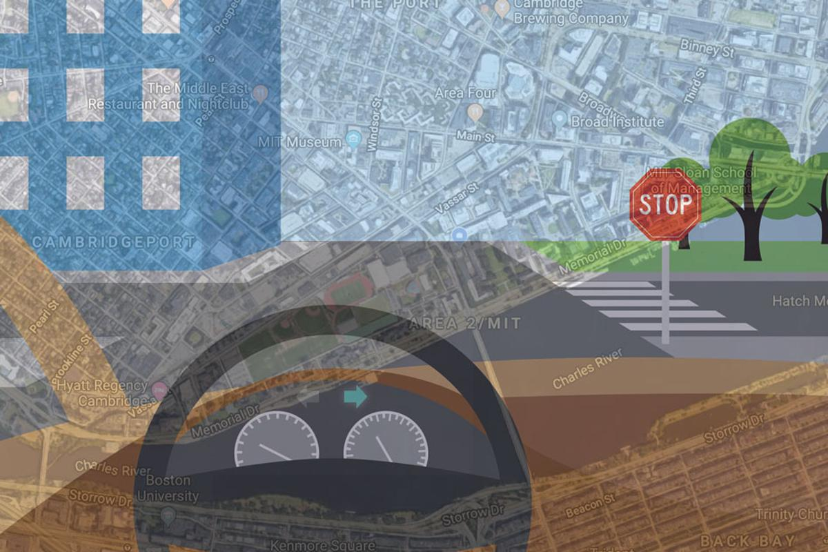 To bring more human-like reasoning to autonomous vehicle navigation, MIT researchers have created a system that enables driverless cars to check a simple map and use visual data to follow routes in new, complex environments