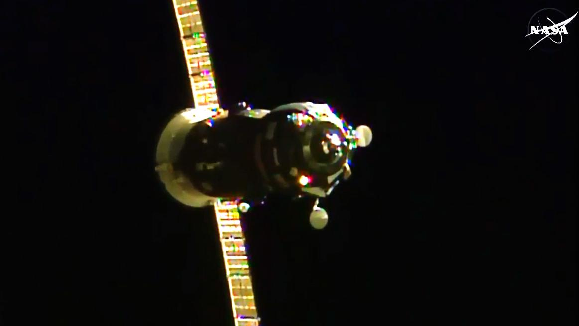 Progress 60 observed from the ISS