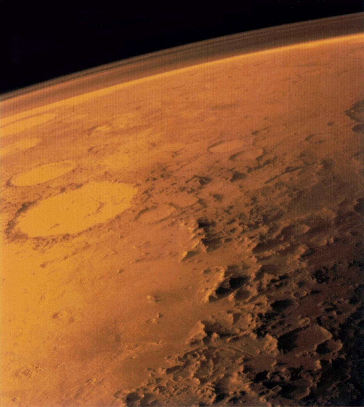 The levels of atomic oxygen detected in the Martian mesosphere were only around half of what was expected
