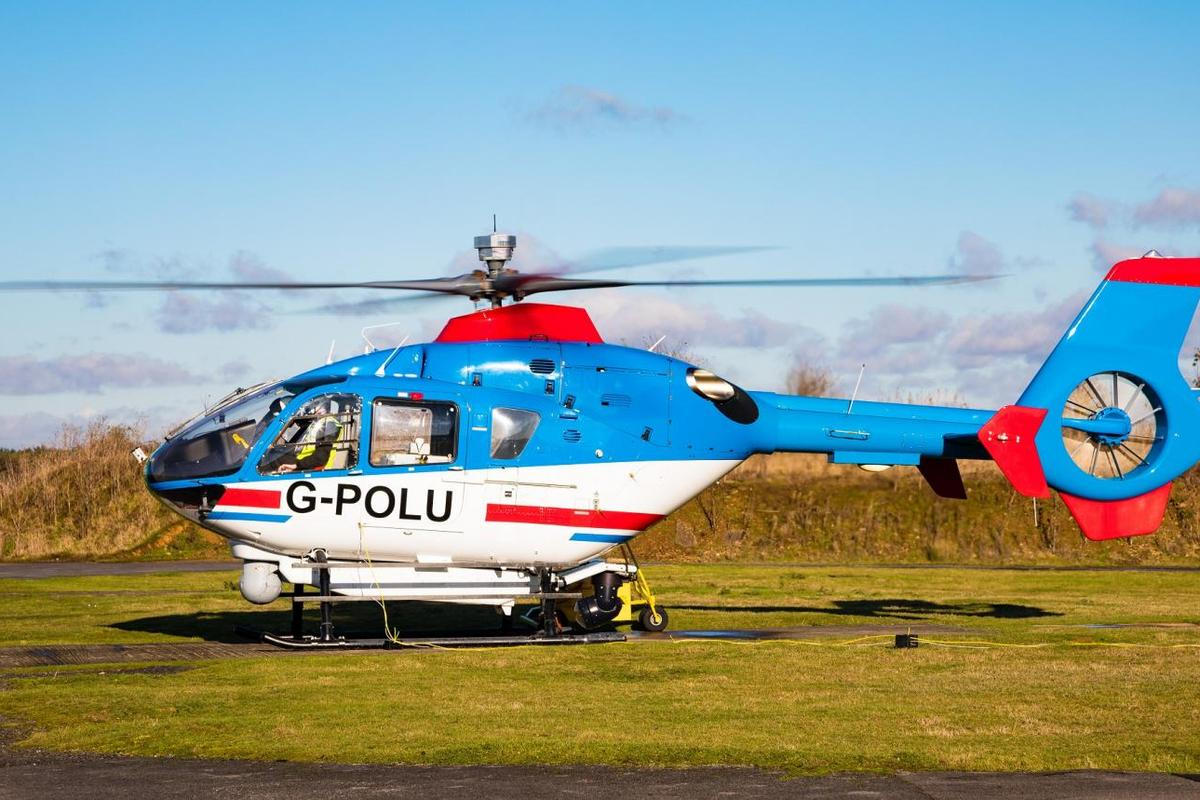 The BladeSense system was ground-tested for four hours, on an Airbus H135 helicopter
