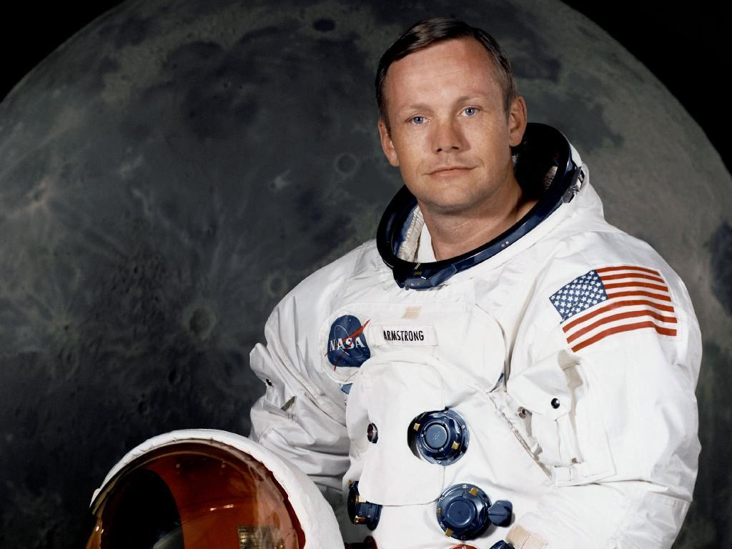 Neil A. Armstrong, commander of the Apollo 11 Lunar Landing mission in his space suit (Photo: NASA)