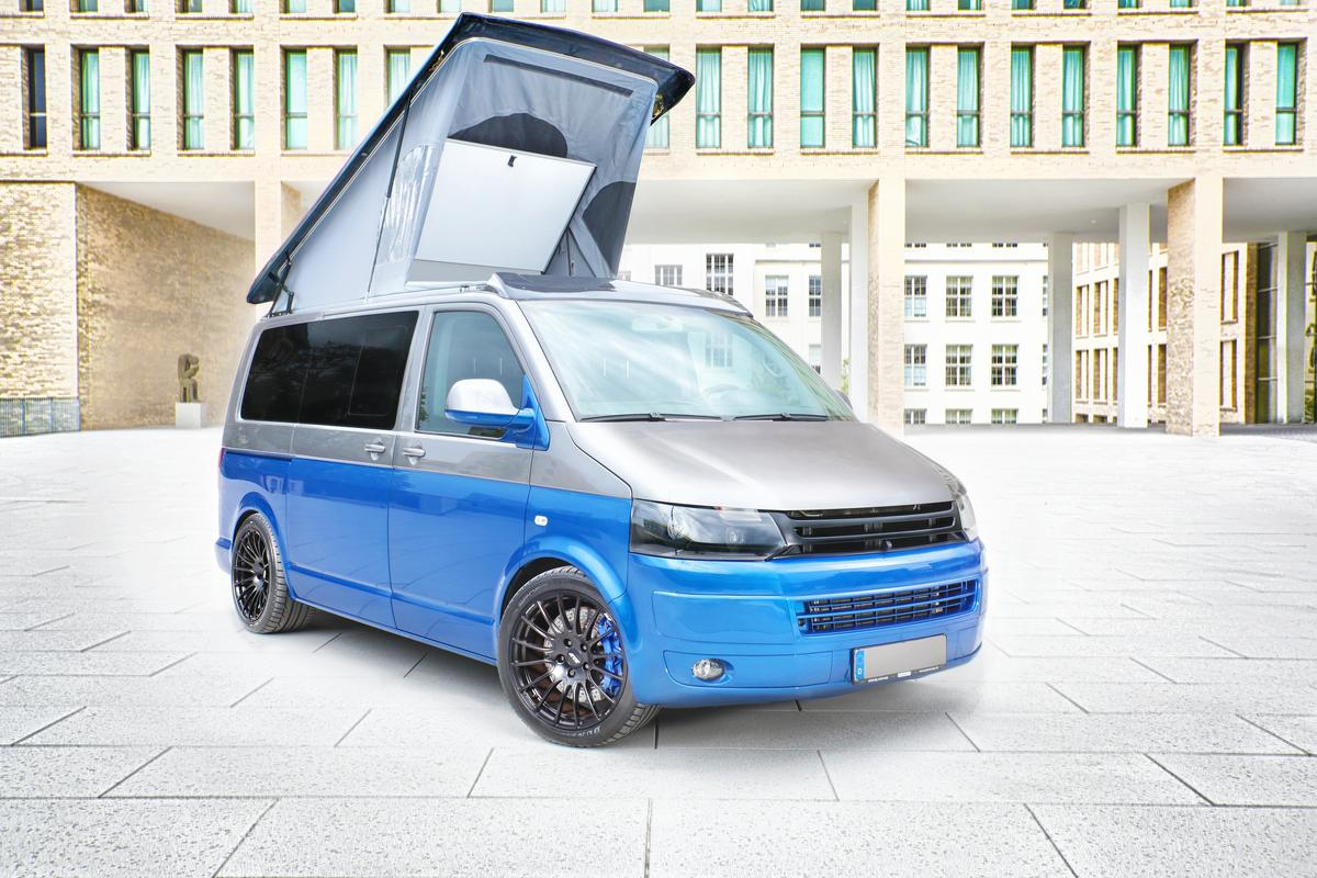 The all new SpaceCamper TH5 is powered by a Porsche engine and billed as the world's fastest camper (Photo: SpaceCamper)