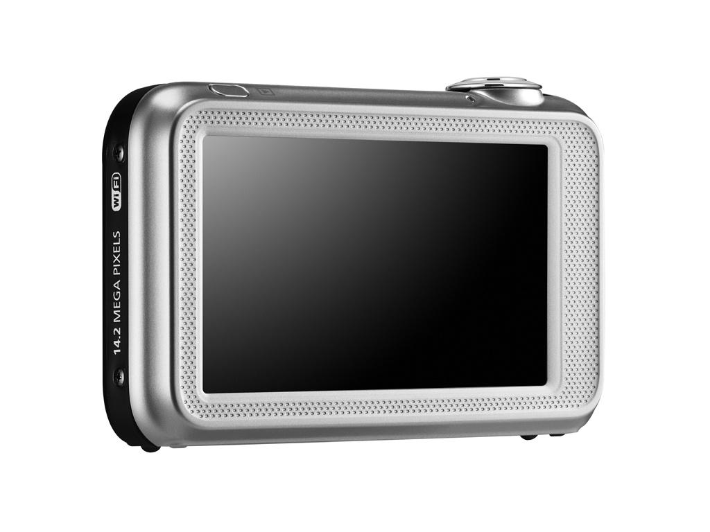 The ST80 snaps 14.2 megapixel images and records 720p high definition video, with all the action being controlled by the 3 inch, 230,000 dot widescreen LCD touchscreen display to the rear