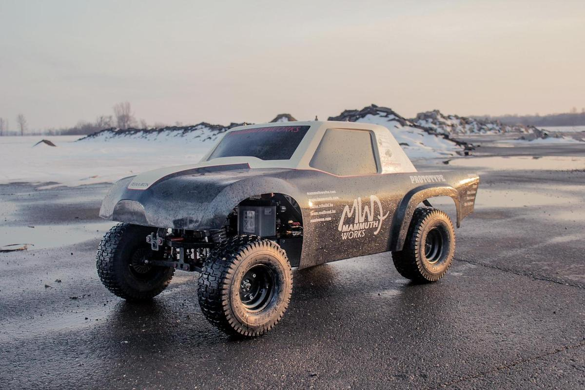 "The Mammuth Rewarron RC car is billed as ""remote controlled testosterone"" by manufacturer Mammuth Works"