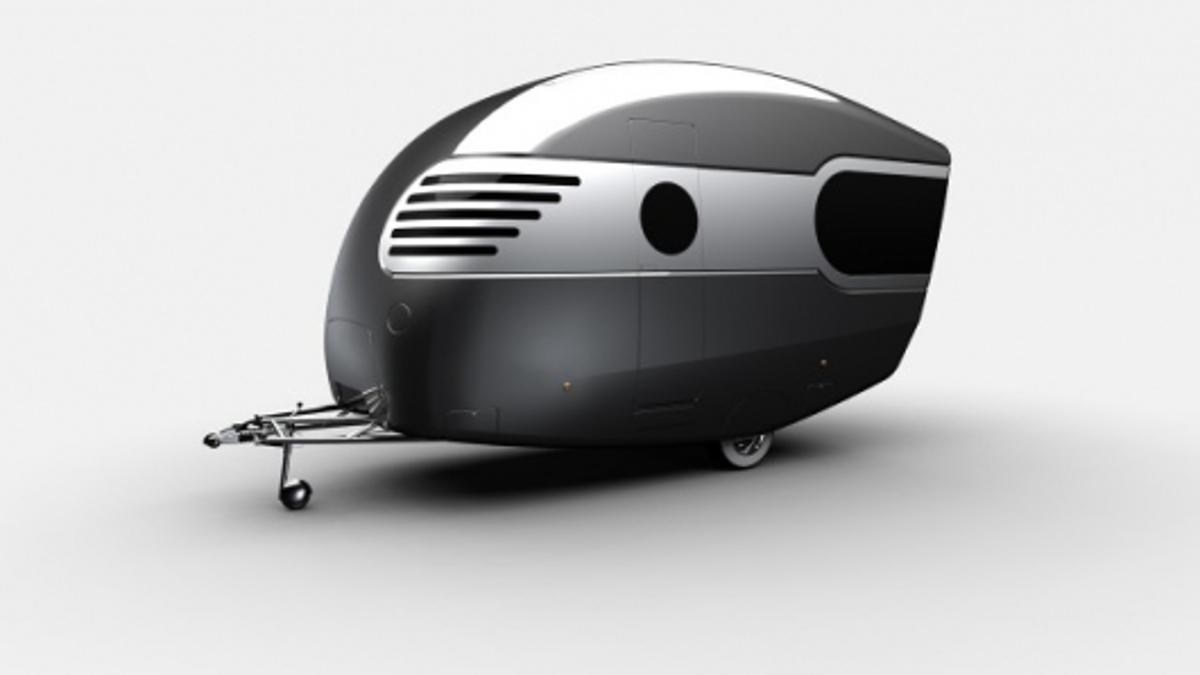 Stunning retro feel to Rob Millington's concept caravan piece