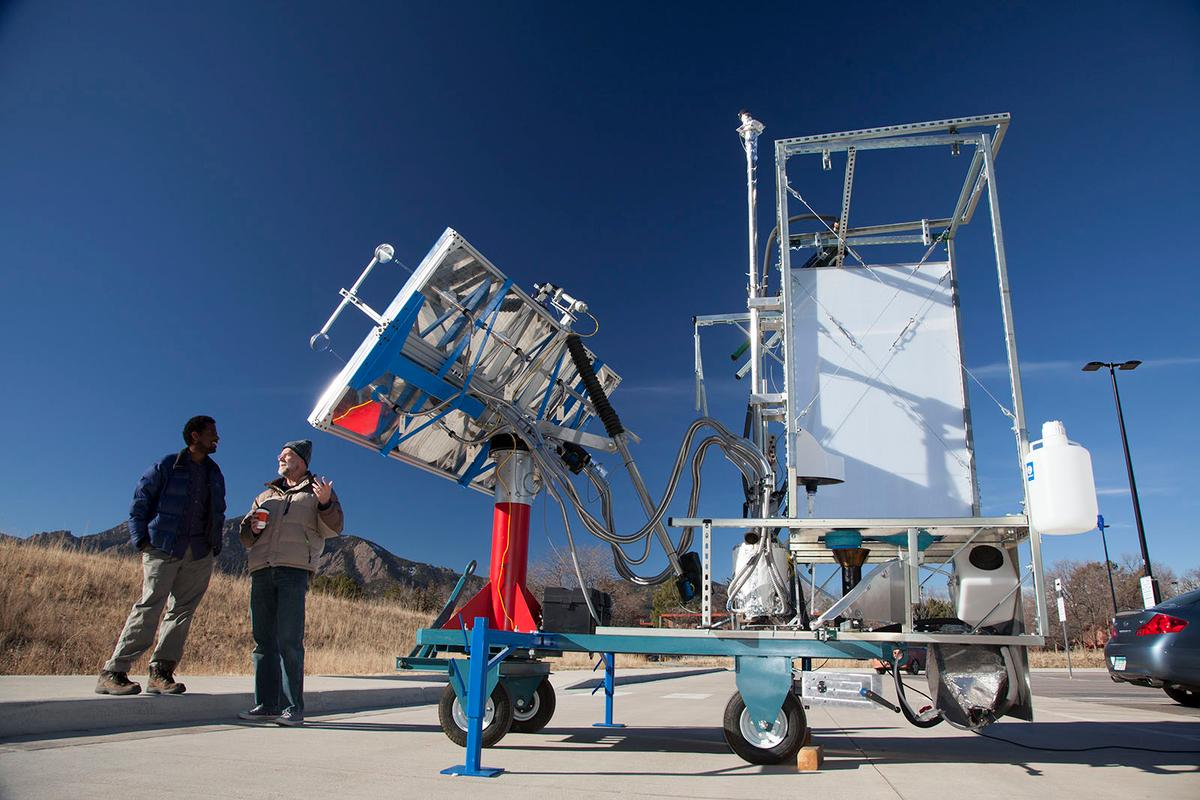 The University of Colorado's solar toilet