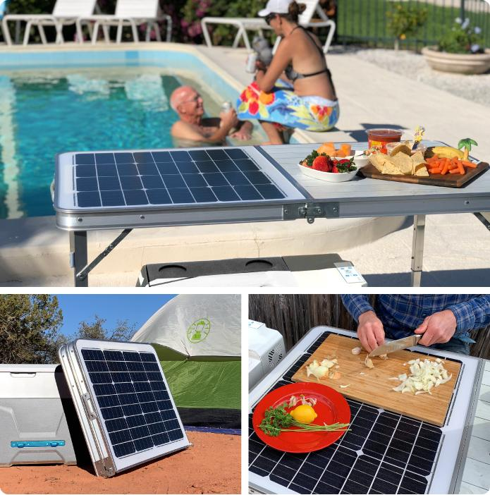 The optional (folding) GoSun Solar Table