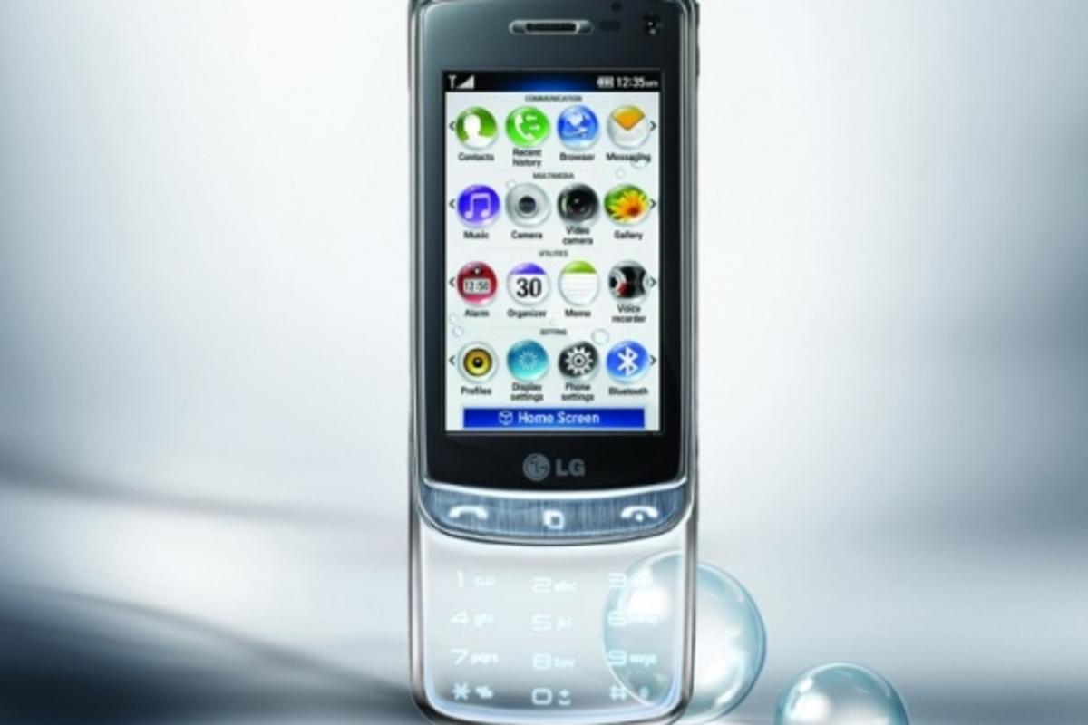 Transparent touchpad - LG-GD900