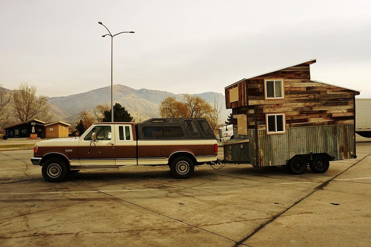 The Wheelie Shack is a micro-house measuring just 12 ft (3.6 m)-long