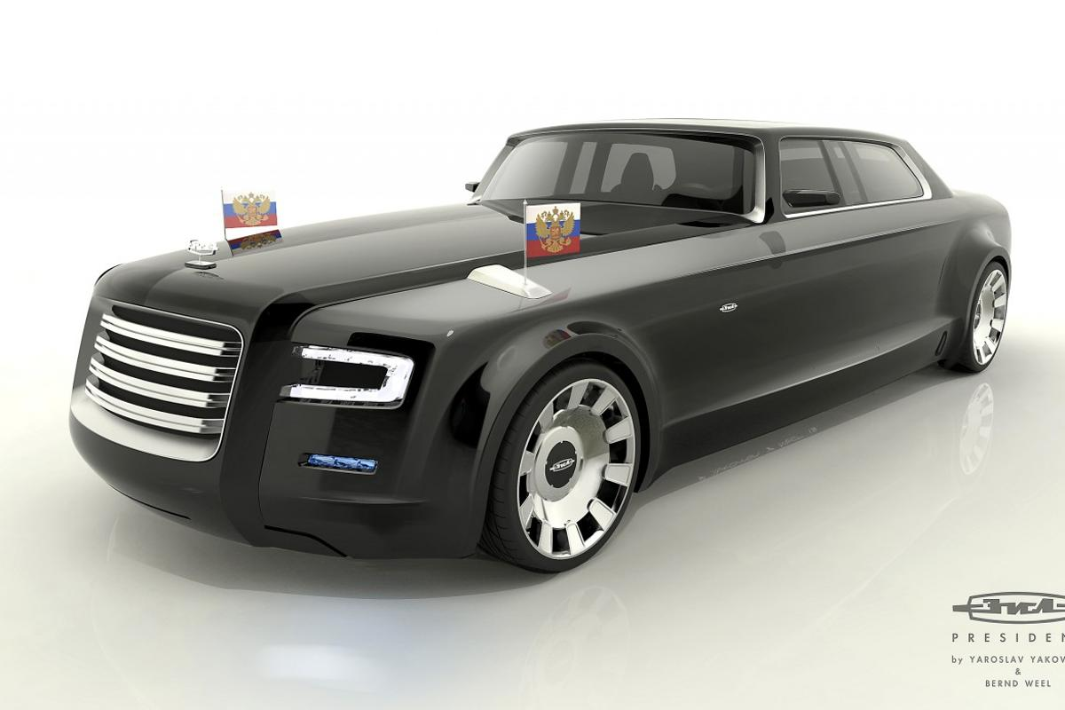Marussia And Cardesign Ru Reveal Concepts For New Car For President Putin