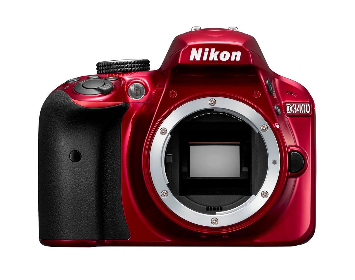The Nikon D3400 uses a 24.3 megapixel CMOS sensor