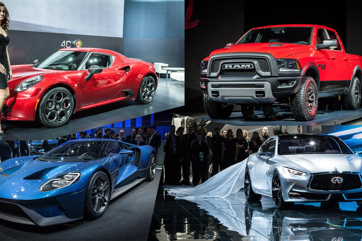 Supercars, electrics, hybrids and of course big ol' trucks are the stars of this year's Detroit North American International Auto Show (Photo: Loz Blain/Gizmag.com)