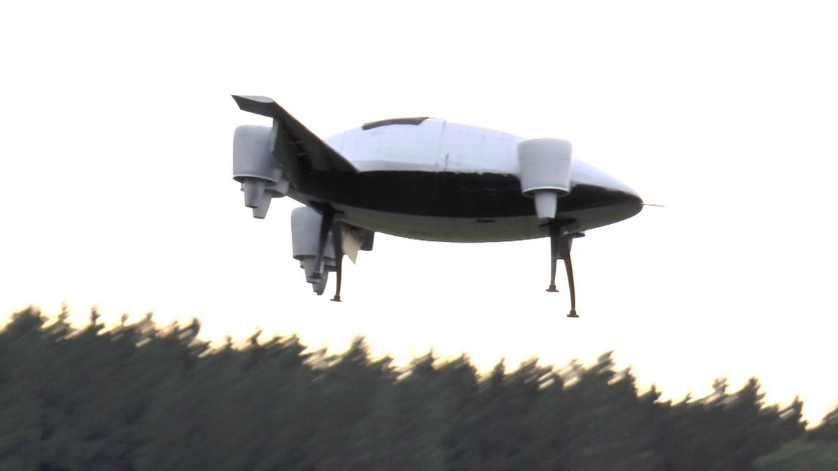 An early unmanned prototype being tested