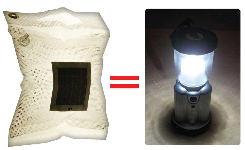LuminAID's charging takes 4-6 hours in the sunlight