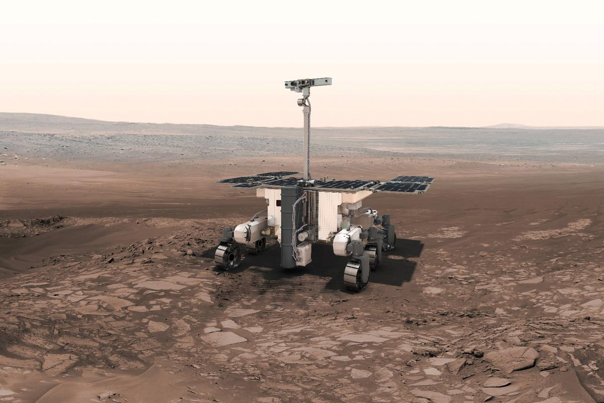 The ExoMars rover Rosalind Franklin