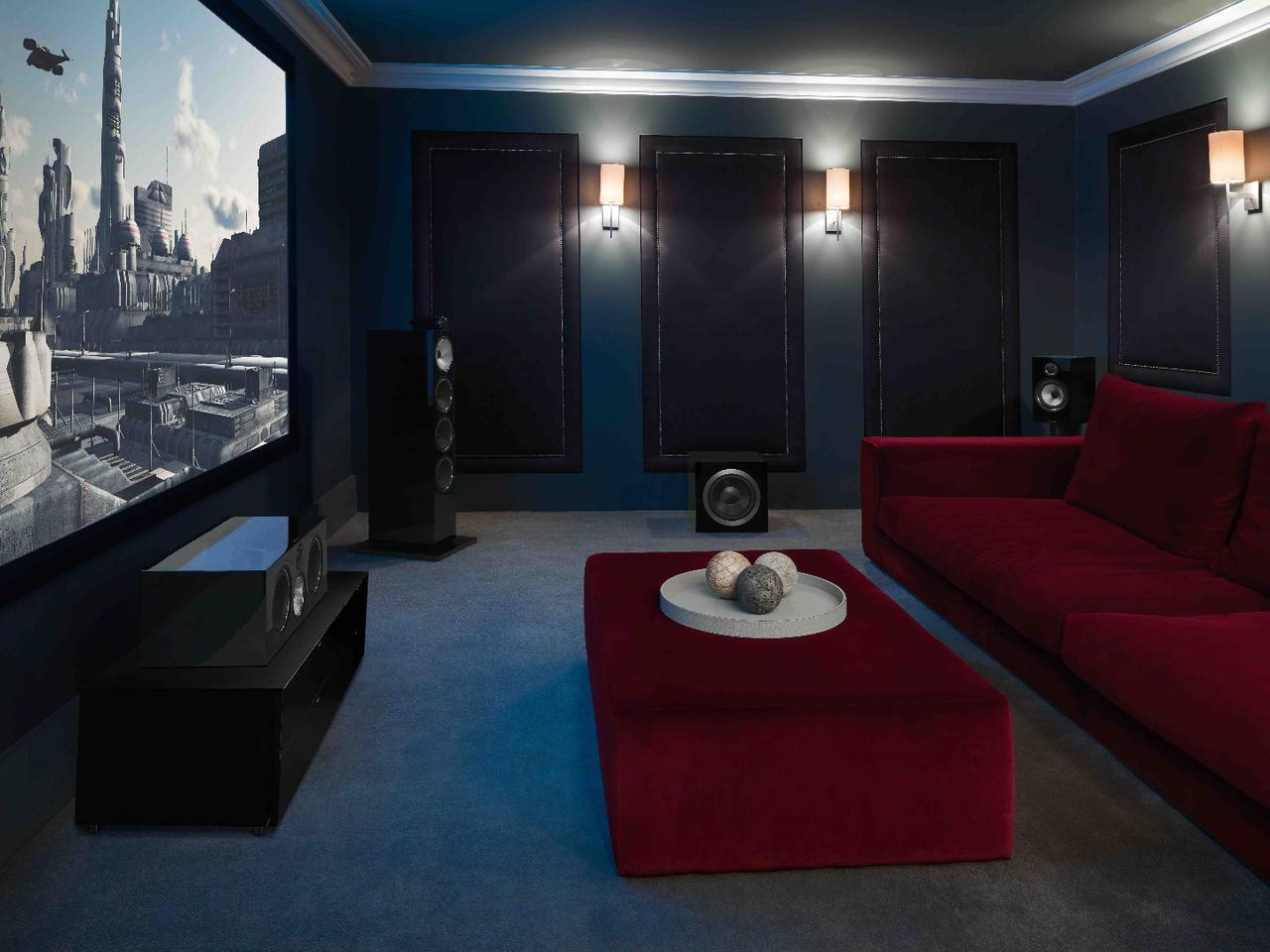Bowers & Wilkins 700 Series speakers used in a home cinema setup