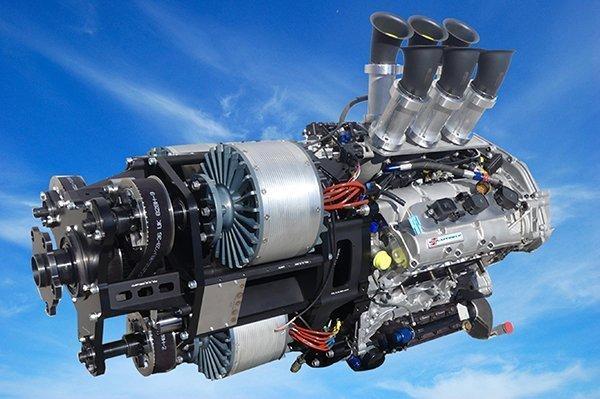 The VoltAero hybrid powertrain can run in multiple modes