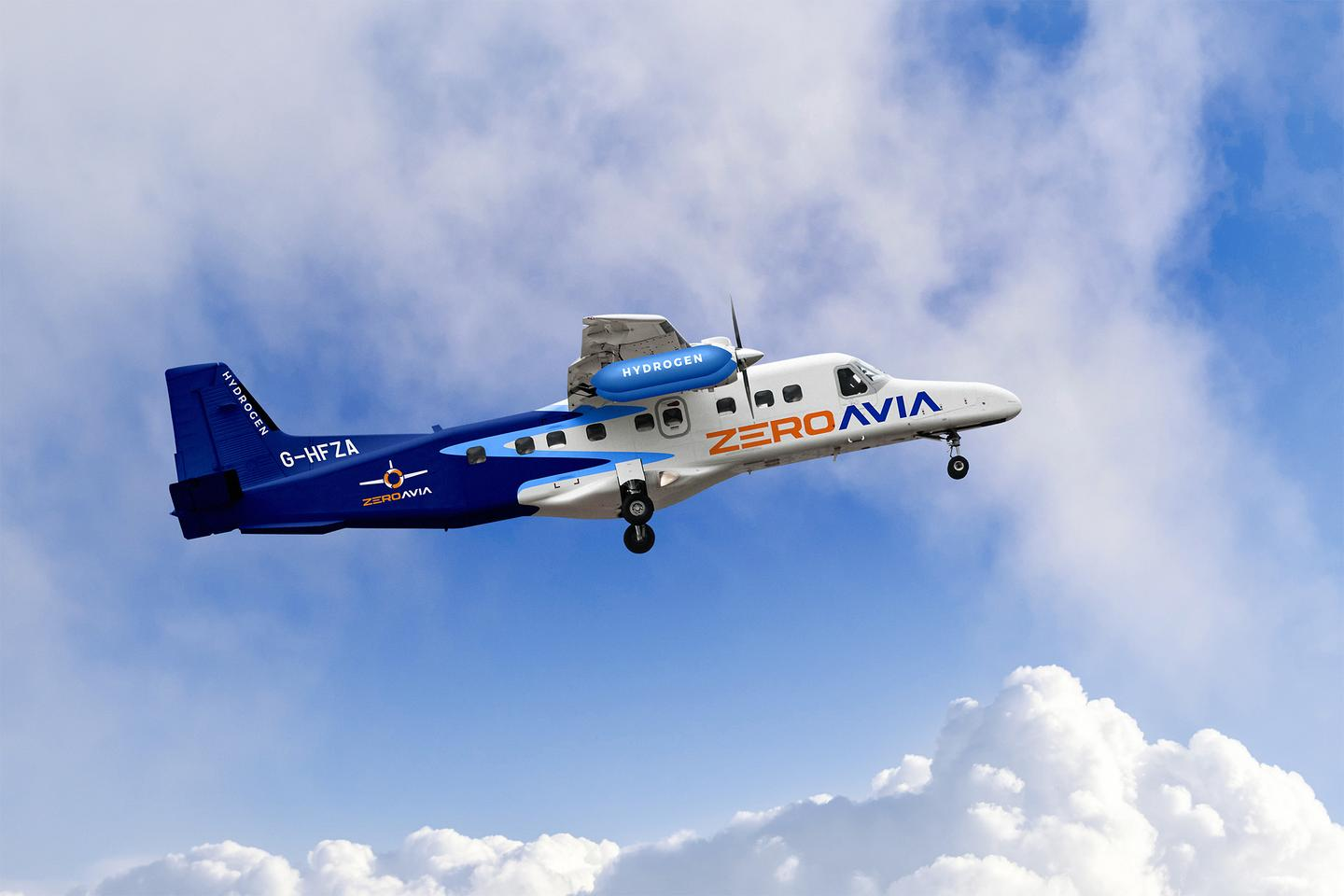 ZeroAvia has bought two twin-engine, 19-seat Dornier 228 aircraft to retrofit with its biggest hydrogen powertrain to date (Digitally altered image)