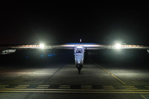 Solar Impulse 2 on the runway