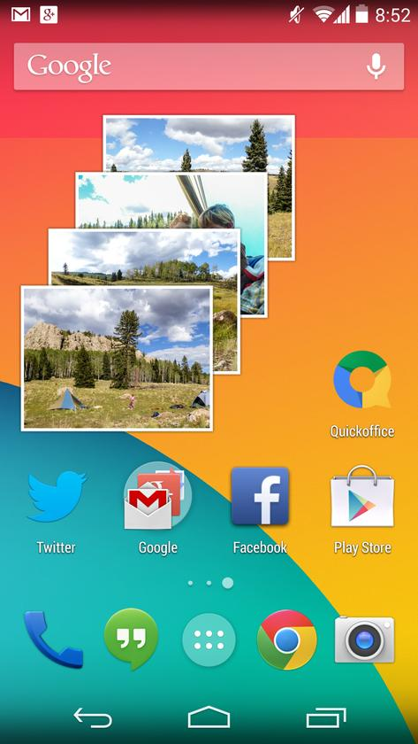 A close look at KitKat's new home screen