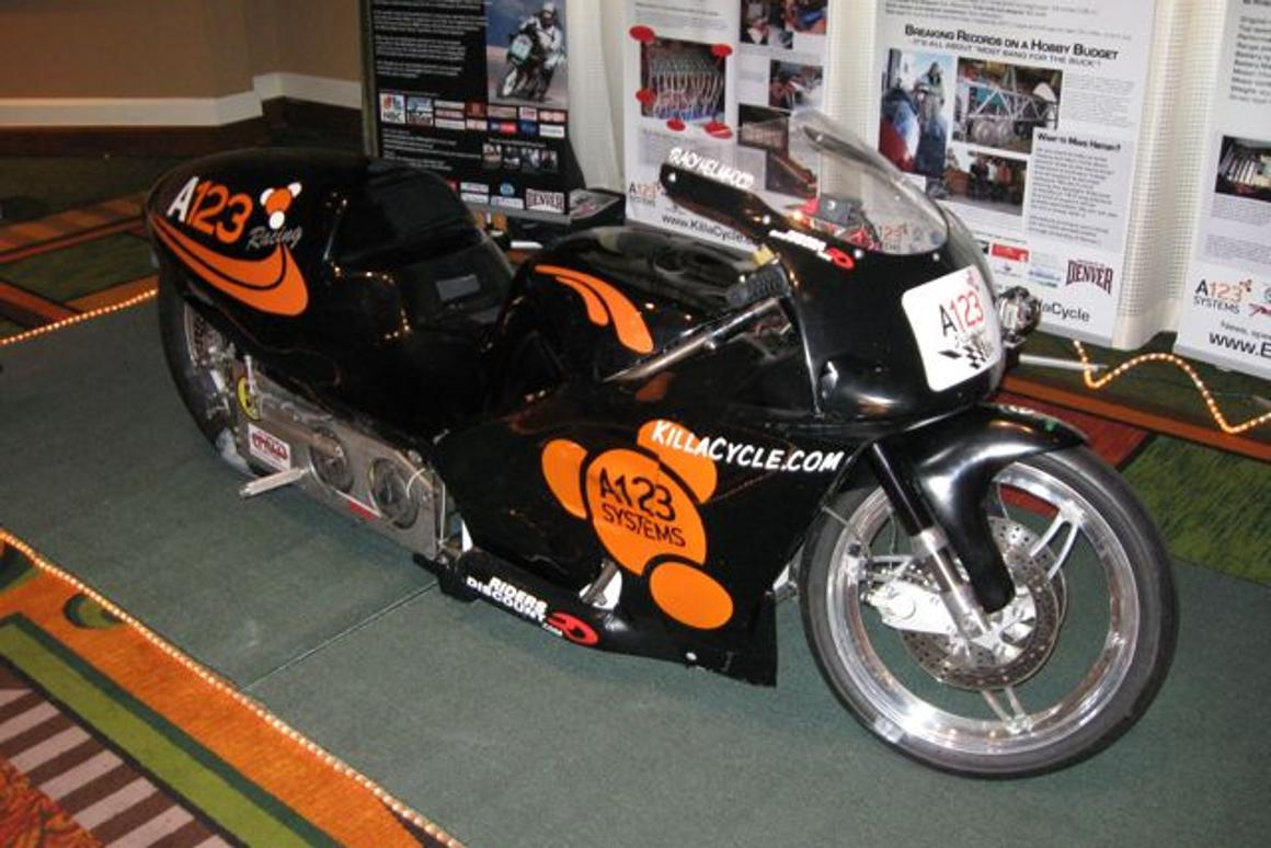 Eva Hakkanson shows us the KillaCycle, the world's fastest electric motorcycle