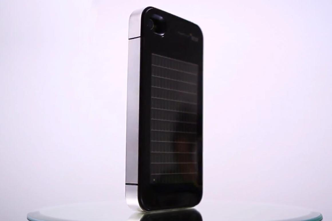 The EnerPlex solar charger for iPhone 4/4S incorporates a thin, flexible CIGS PV module from Ascent Solar