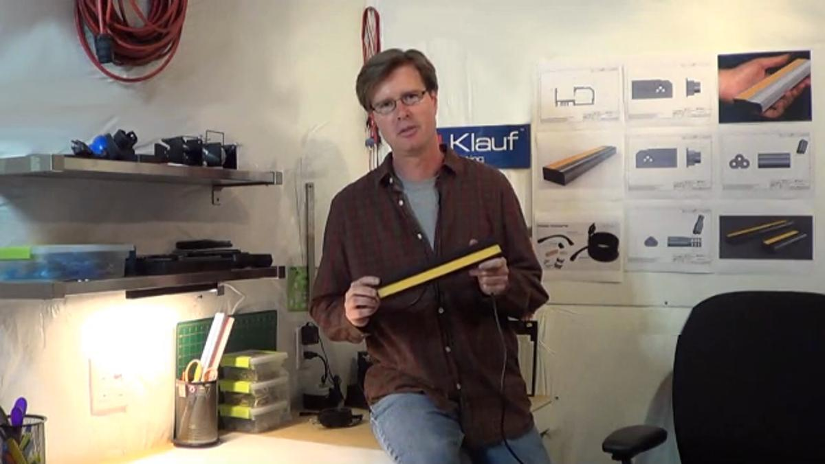 Klauf Lighting's Joseph Lee with the Klauf Light Bar