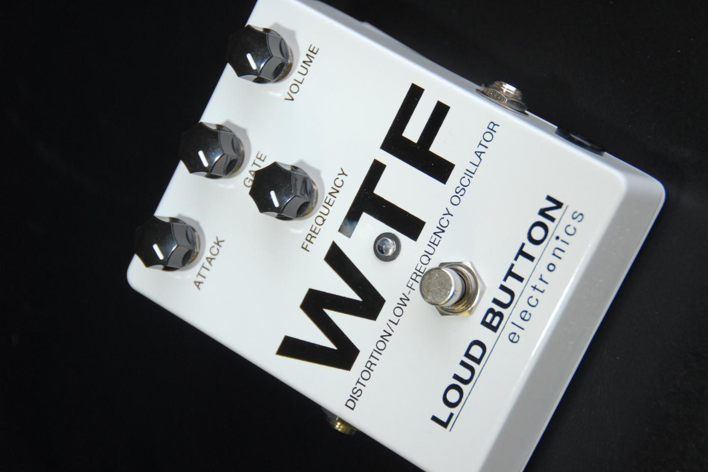 The attack dial to the left modulates the LFO to provide variable envelope sweep and octave-down effects