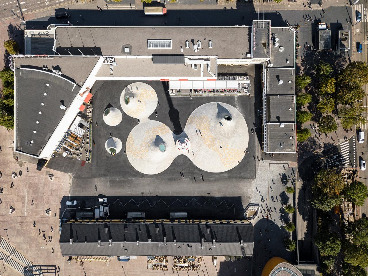 The refurbished Lasipalatsi Square from above