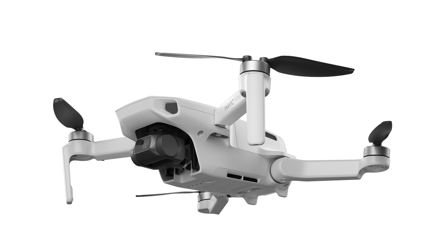 The Mavic Mini's camera is mounted to a 3-axis gimbal to help keep things smooth