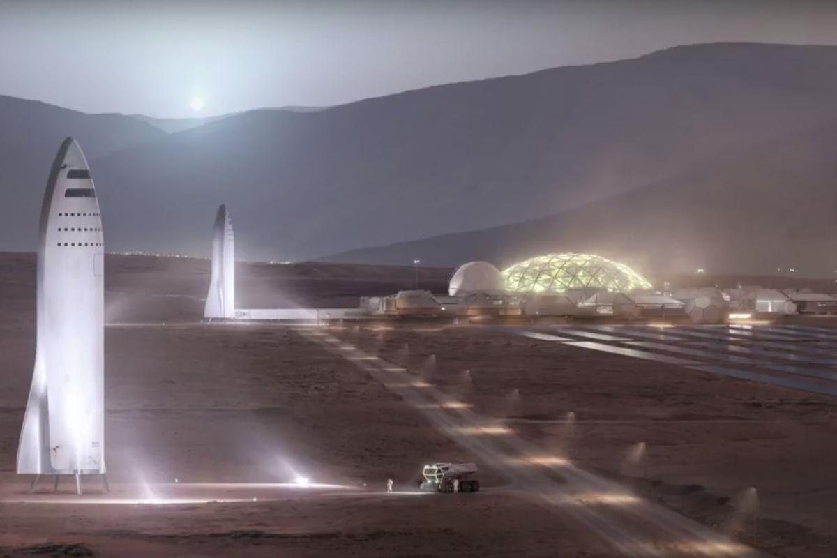 Artist's concept of Mars City