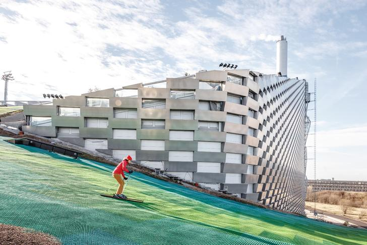 CopenHill is home to a waste-to-energy power plant, a ski slope and the world's tallest climbing wall
